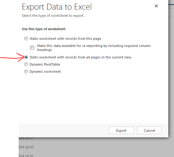 Advance Export data excel