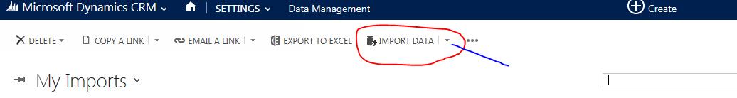 Setting Dm import blue
