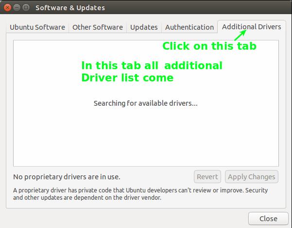 How to update driver in Ubantu part 3