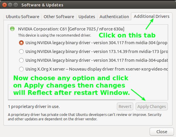 How to update driver in Ubantu part 4