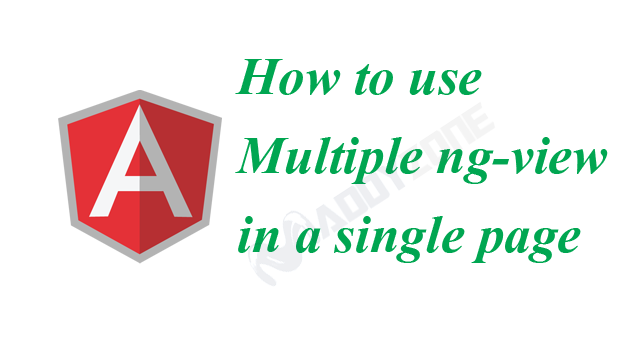 How to use multiple ng-view in a single page