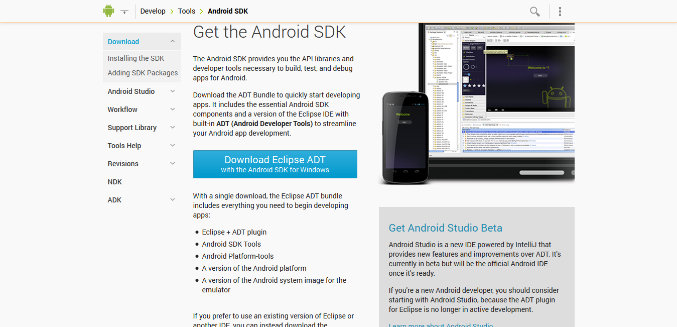 Android SDK Location to Download