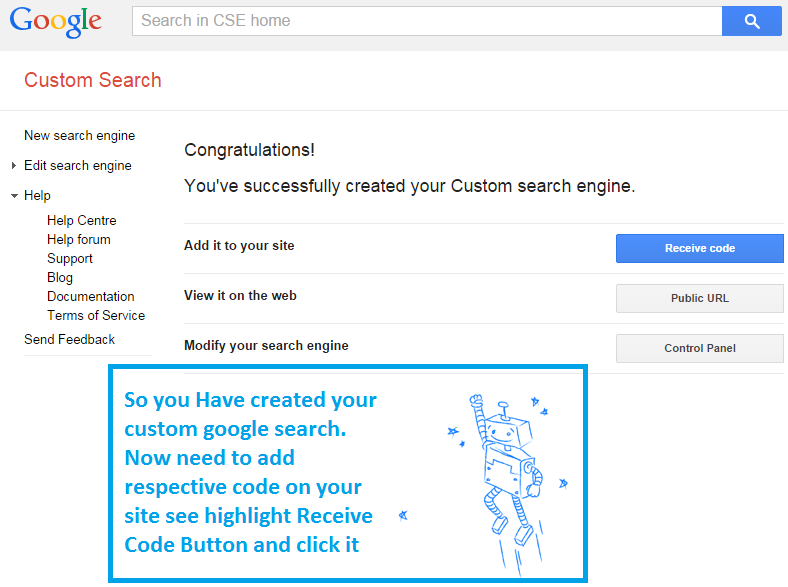 How to add Google search in our website step 2