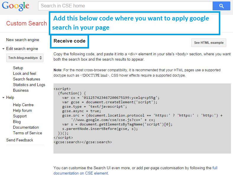add custom Google search step 3