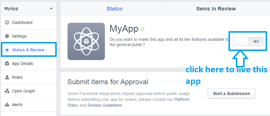status and review of facebook app and do it live